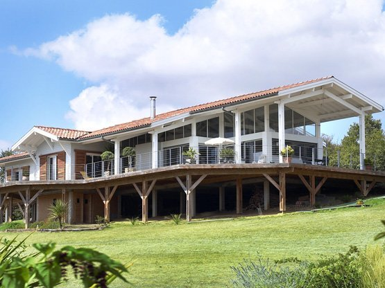 Maison ossature bois poteau-poutre