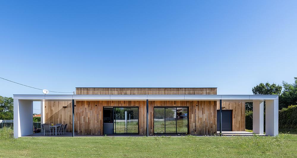 ossature bois maison bioclimatique